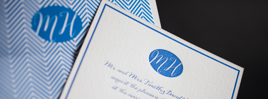 Monograms for Letterpress Wedding Invitations