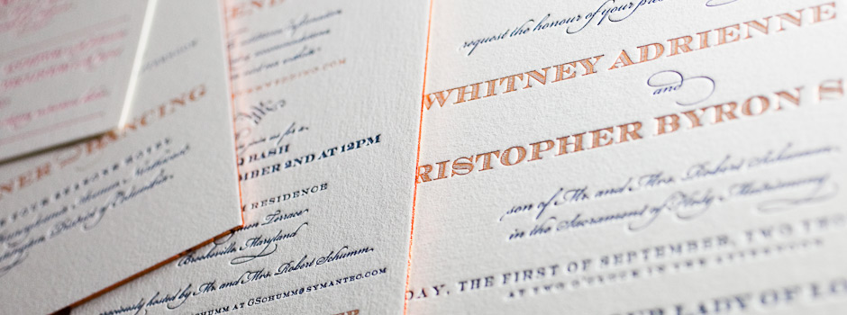 Letterpress Invitation Sizes