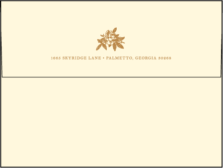 A Bientot Letterpress Envelope Design Medium