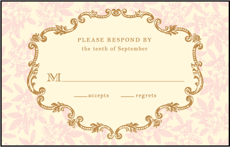 A Bientot Letterpress Reply Postcard Front Design Medium