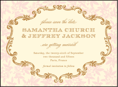 A Bientot Letterpress Save The Date Design Medium