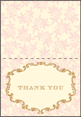 A Bientot Letterpress Thank You Card Fold Design Medium