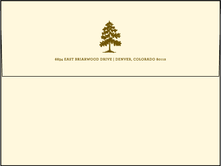 Adirondack Letterpress Envelope Design Medium