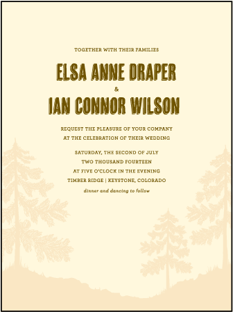 Adirondack Letterpress Invitation Design Medium