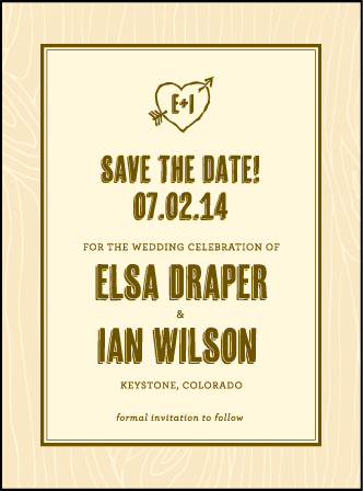 Adirondack Letterpress Save The Date Design Medium