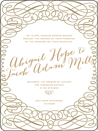Ainsley Letterpress Invitation Design Medium