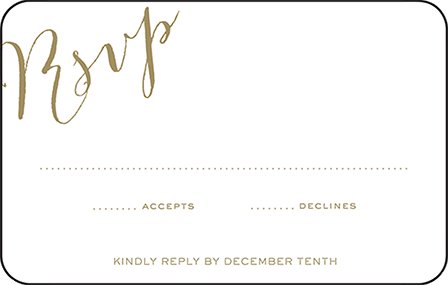 Ainsley Letterpress Reply Postcard Front Design Medium