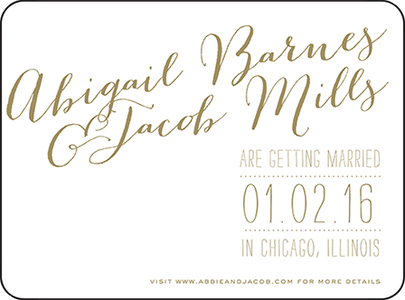 Ainsley Letterpress Save The Date Design Medium