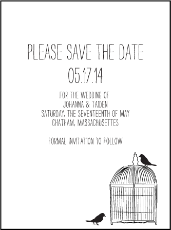 Allegory Modern Letterpress Save The Date Design Medium