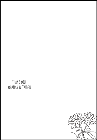 Allegory Modern Letterpress Thank You Card Fold Design Medium