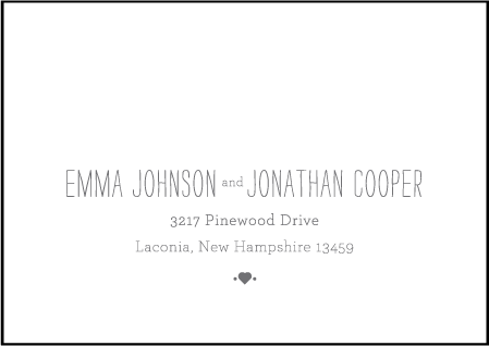 Alouette Monogram Letterpress Reply Envelope Design Medium