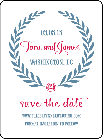 Alouette Monogram Letterpress Save The Date Design Medium