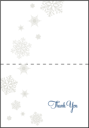 Alpine Letterpress Thank You Card Fold Design Medium