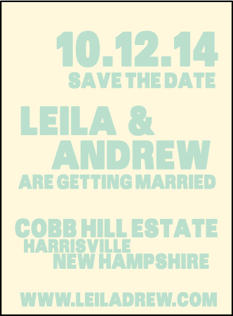 Alton Letterpress Save The Date Design Medium