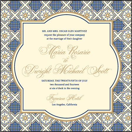 Amadore Antique Letterpress Invitation Design Medium
