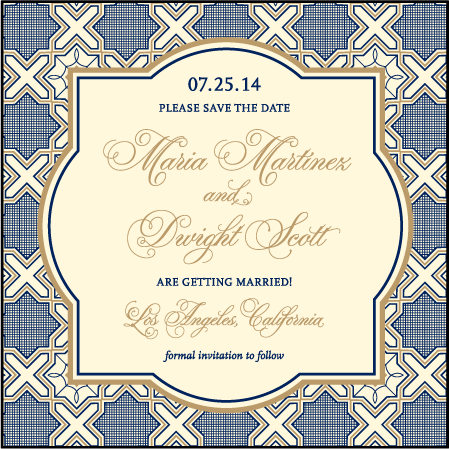 Amadore Antique Letterpress Save The Date Design Medium