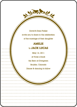 Amelie Letterpress Invitation Design Medium