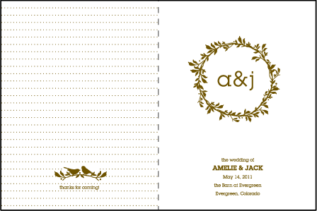 Amelie Letterpress Program Design Medium