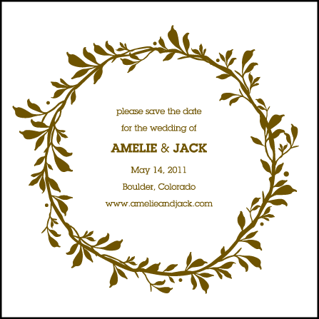 Amelie Letterpress Save The Date Design Medium