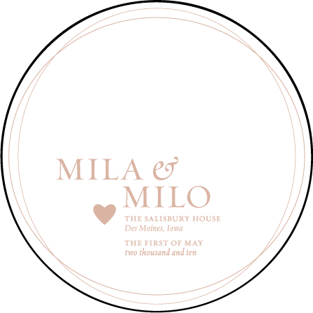 Amici Letterpress Coaster Design Medium