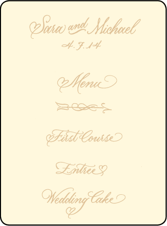 Amor Letterpress Menu Design Medium