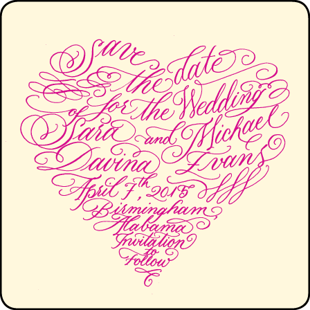 Amor Letterpress Save The Date Design Medium