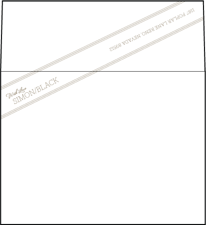 Anais Letterpress Envelope Design Medium