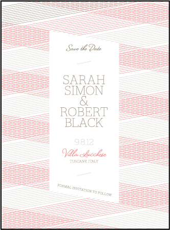 Anais Letterpress Save The Date Design Medium