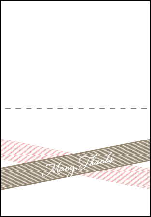 Anais Letterpress Thank You Card Fold Design Medium