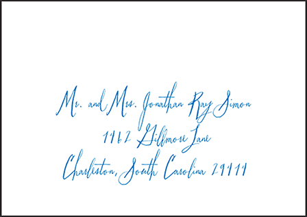 Anderson Letterpress Reply Envelope Design Medium