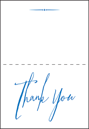 Anderson Letterpress Thank You Card Fold Design Medium
