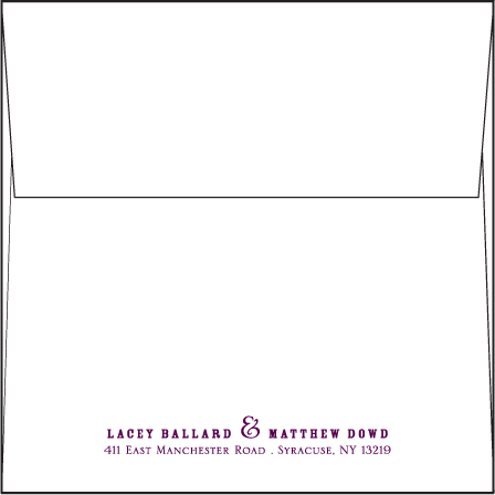 Anthology Letterpress Envelope Design Medium