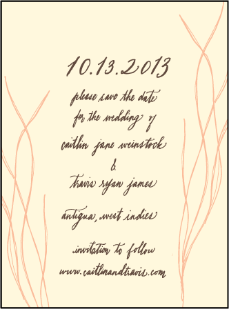 Antigua Letterpress Save The Date Design Medium