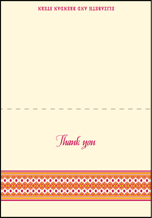 Antique Fall Letterpress Thank You Card Fold Design Medium