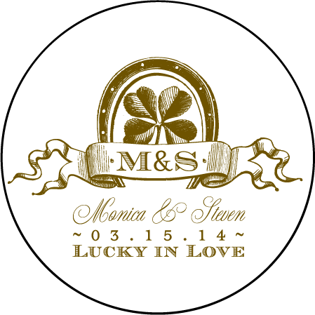 Antique Luck Letterpress Coaster Design Medium