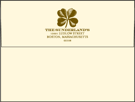 Antique Luck Letterpress Envelope Design Medium