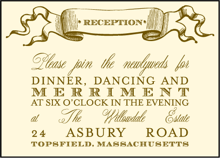 Antique Luck Letterpress Reception Design Medium