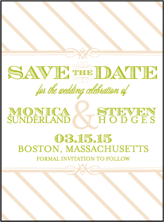 Antique Luck Letterpress Save The Date Design Medium