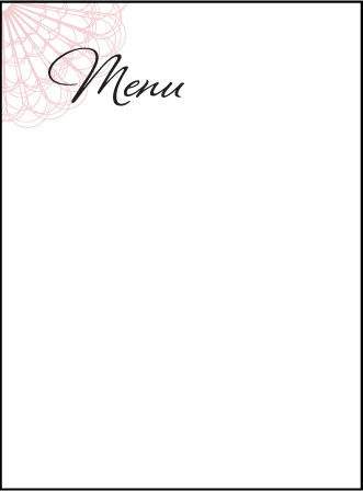 Antoinette Letterpress Menu Design Medium