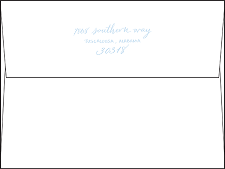 Aquinnah Letterpress Envelope Design Medium