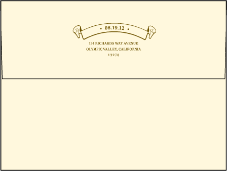Arden Frame Letterpress Envelope Design Medium