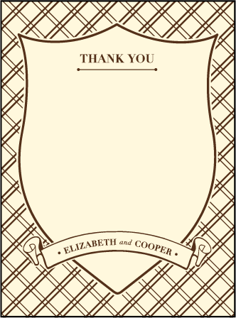Arden Frame Letterpress Thank You Card Flat Design Medium