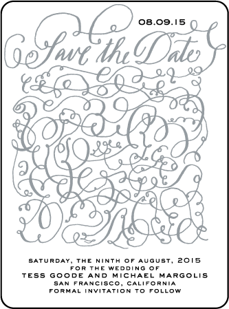 Aria Letterpress Save The Date Design Medium