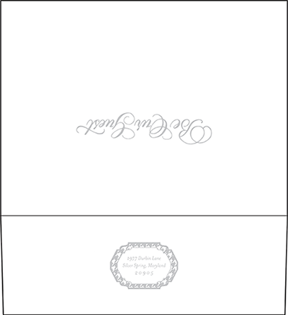 Ashton Letterpress Envelope Design Medium