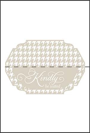 Ashton Letterpress Placecard Fold Design Medium