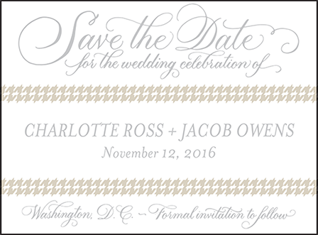 Ashton Letterpress Save The Date Design Medium