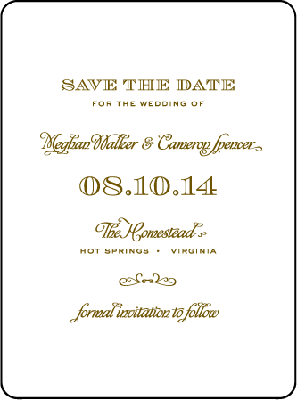 Ashwell Letterpress Save The Date Design Medium
