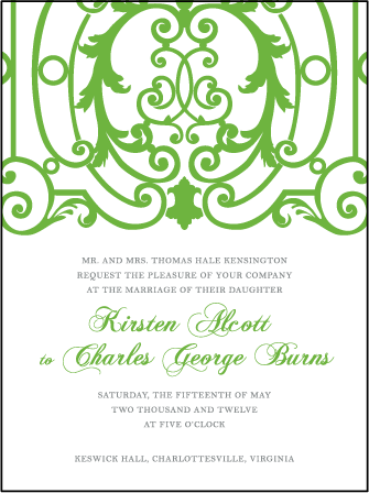 Astor Letterpress Invitation Design Medium