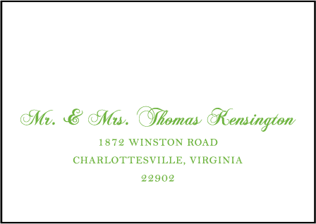 Astor Letterpress Reply Envelope Design Medium