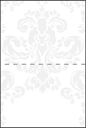 Augustine Damask Letterpress Placecard Fold Design Medium